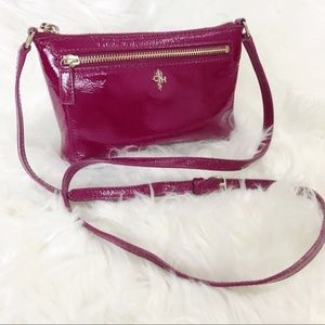 Cole Haan Raspberry Leather Mini Crossbody Bag